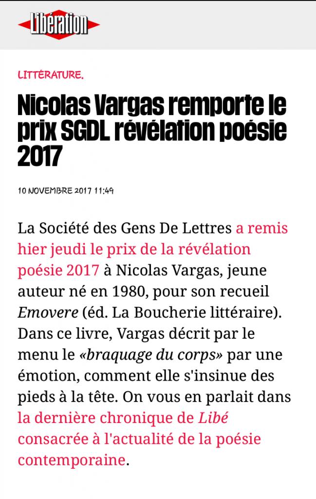 article Prix SGDL Libé
