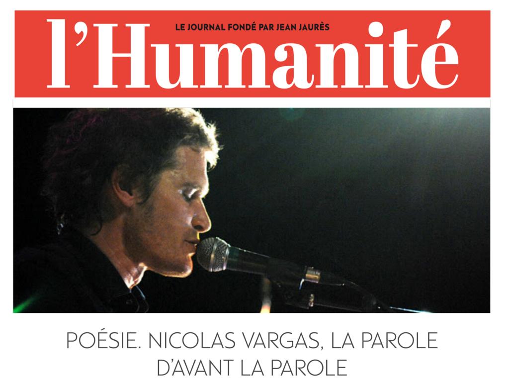 Poésie. Nicolas Vargas, la parole d'avant la parole _ L'Humanité 1